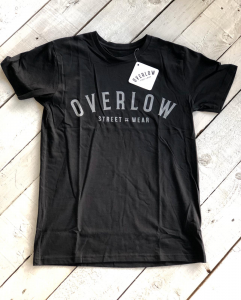 T-Shirt OVERLOW for man - Nera e Grigia