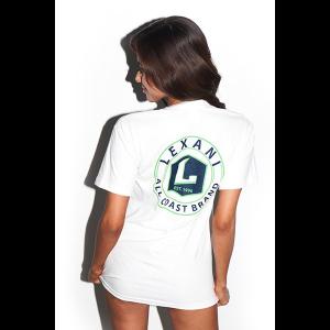 T-shirt Lexani ALL COAST BRAND Bianca e verde