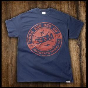 T-shirt 3SDM THREE ESS DEE EMD Blu