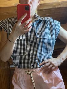 Camicia Smanicata Vichy Vicolo