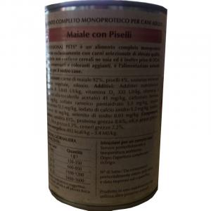 DISUGUAL -  PROFESSIONAL PETS UMIDO MAIALE CON PISELLI 400 GR
