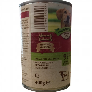 DISUGUAL - PROFESSIONAL PETS UMIDO MANZO CON CAROTE 400 GR