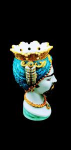Testa di Moro Con Turbante Blu Uomo