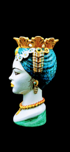 Moro Head With Blue Turban Woman