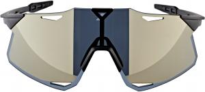 100% Hypercraft Occhiali, matte black/gold mirror