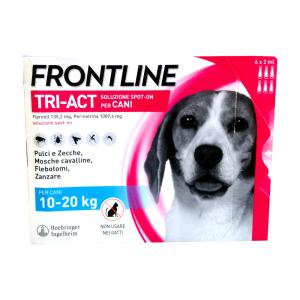 FRONTLINE TRI-ACT per cani dai 10 - 20  kg - 6 pipette