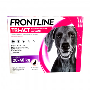 FRONTLINE TRI-ACT per cani dai 20 ai 40  kg - 6 pipette
