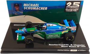 Benetton Ford B194 Michael Schumacher Winner Monaco Gp 1994 1/43