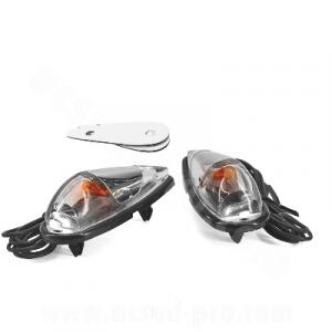 206190 COPPIA FRECCE DIAMANT TRASPARENTE CARBON LOOK ADESIVE MOTOCICLI SCOOTER-