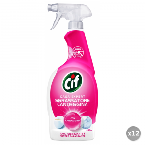 CIF Set 12 CIF Duo attivo con candeggina trigger + mousse 750 ml.
