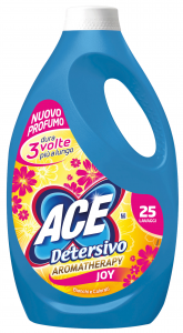 ACE Lavatrice liquido 25 misurini igienizzante marsiglia/gelsomino per bucato