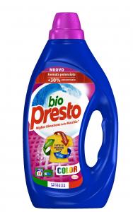 BIO PRESTO Detersivo Lavatrice Liquido 19 Misurini Colorati Per bucato