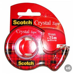 Set 6 3M Scotch Trasparente y10 99895 Crystal Cartoleria e Scuola