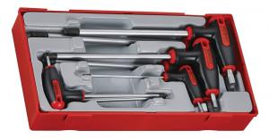 Serie chiavi maschio con impugnatura a T TengTools TTHEX7