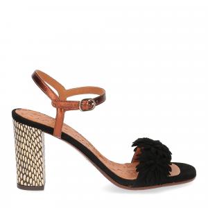 Chie Mihara sandalo Balis camoscio nero-2