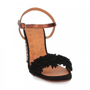 Chie Mihara sandalo Balis camoscio nero-3