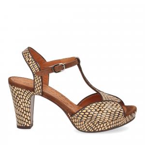Chie Mihara sandalo Eduni36 pelle stampata beige-2