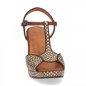 Chie Mihara sandalo Eduni36 pelle stampata beige-3