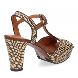 Chie Mihara sandalo Eduni36 pelle stampata beige-5