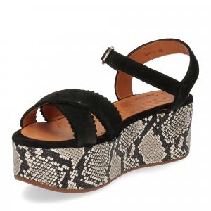 Chie Mihara sandalo Olinda camoscio nero-4