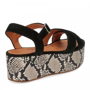 Chie Mihara sandalo Olinda camoscio nero-5