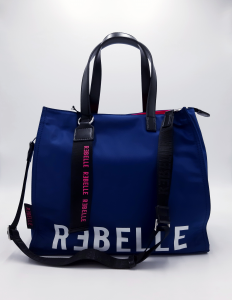 Shopping in tessuto tecnico bluette Rebelle