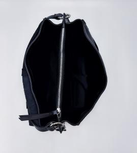 Cartella in pelle bottalata nera REBELLE