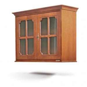 Vitrina colgante de madera 2 puertas