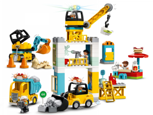 LEGO DUPLO CANTIERE EDILE CON GRU A TORRE 10933