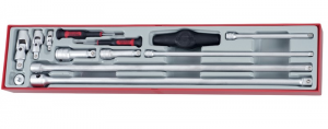 Set prolunghe ed accessori per bussole quadro 1/4