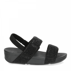 Fitflop Mina Crystal back strap sandals all black-2