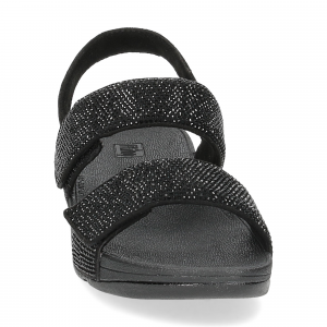 Fitflop Mina Crystal back strap sandals all black-3