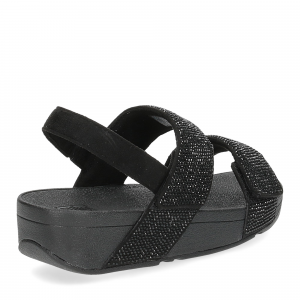 Fitflop Mina Crystal back strap sandals all black-5