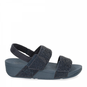 Fitflop Mina Crystal back strap sandals midnight navy-2