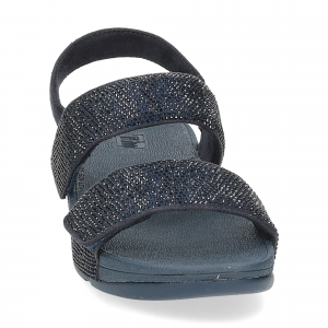 Fitflop Mina Crystal back strap sandals midnight navy-3
