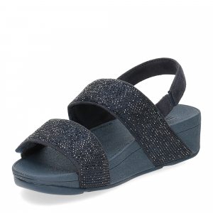 Fitflop Mina Crystal back strap sandals midnight navy-4