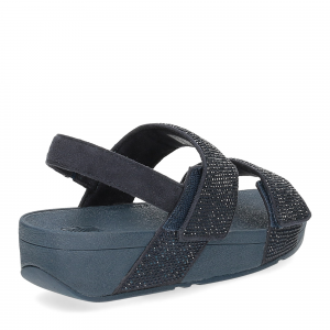 Fitflop Mina Crystal back strap sandals midnight navy-5