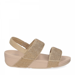 Fitflop Mina Crystal back strap sandals artisan gold-2