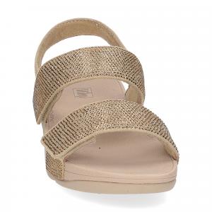 Fitflop Mina Crystal back strap sandals artisan gold-3