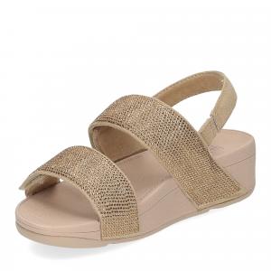 Fitflop Mina Crystal back strap sandals artisan gold-4