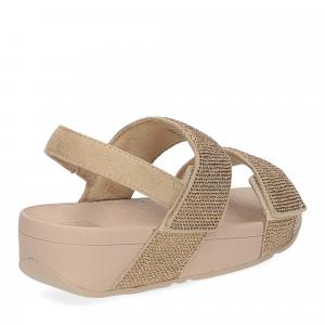 Fitflop Mina Crystal back strap sandals artisan gold-5