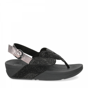Fitflop Paisley Rope back strap sandals black-2