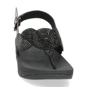 Fitflop Paisley Rope back strap sandals black-3