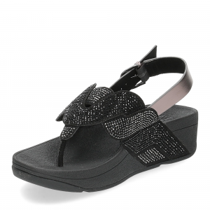 Fitflop Paisley Rope back strap sandals black-4