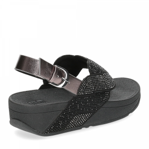 Fitflop Paisley Rope back strap sandals black-5