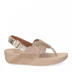 Fitflop Paisley Rope back strap sandals platino-2