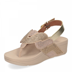 Fitflop Paisley Rope back strap sandals platino-4