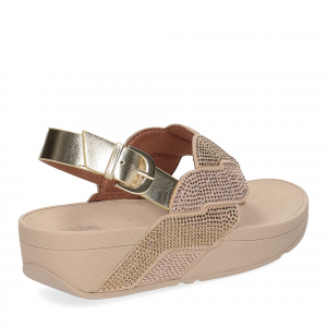 Fitflop Paisley Rope back strap sandals platino-5