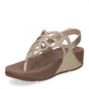 Fitflop Bumble Crystal sandal gold-4