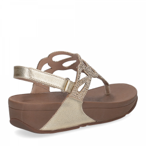 Fitflop Bumble Crystal sandal gold-5